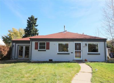 Denver Single Family Home Under Contract: 1074 Kearney Street