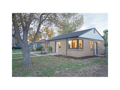 Denver Single Family Home Active: 7310 East 22nd Avenue
