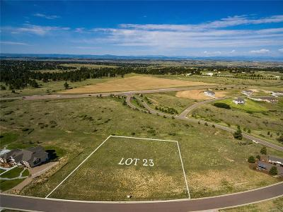 Parker CO Residential Lots & Land Active: $225,000