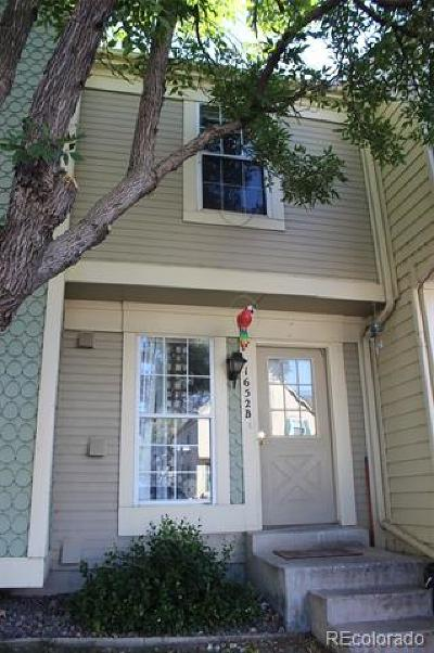 Aurora Condo/Townhouse Active: 1652 South Idalia Circle #B