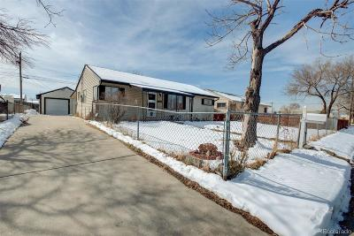 Commerce City Single Family Home Under Contract: 4210 East 69th Place