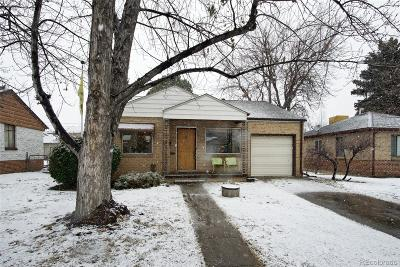Denver Single Family Home Active: 1179 South Jackson Street