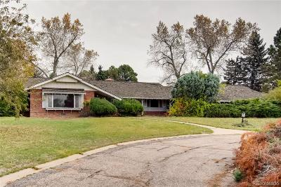 Greenwood Village Single Family Home Under Contract: 5550 South Krameria Street