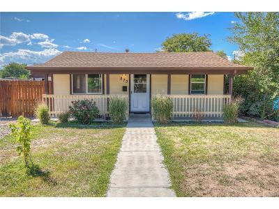 Denver Single Family Home Active: 873 South Vrain Street
