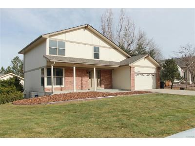 Centennial CO Single Family Home Under Contract: $485,000