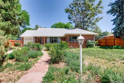 Wheat Ridge Single Family Home Under Contract: 4520 Zephyr Street