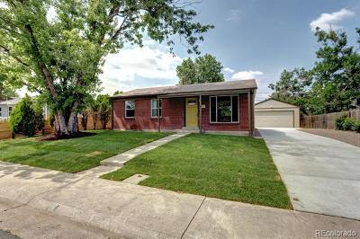 Denver Single Family Home Active: 1741 West 55th Place