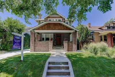 Denver Single Family Home Under Contract: 1047 Steele Street
