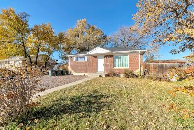 Northglenn Single Family Home Under Contract: 10783 Lincoln Street