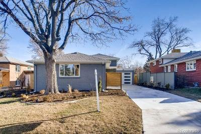 Denver Single Family Home Active: 1534 South Ivy Street