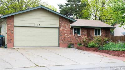 Longmont Single Family Home Active: 1537 Cambridge Drive