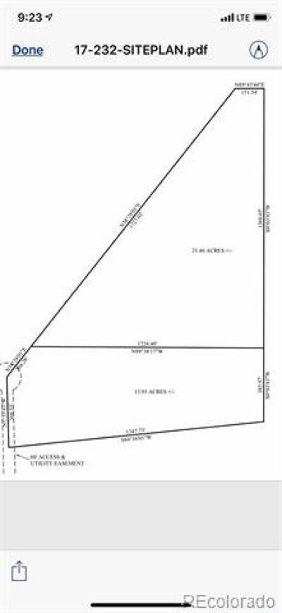 Kiowa Residential Lots & Land Active: County Road 134