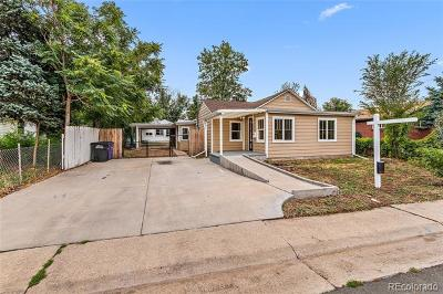 Denver Single Family Home Active: 3492 West Center Avenue