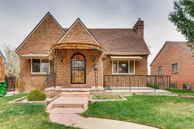 Denver Single Family Home Active: 3010 Bellaire Street