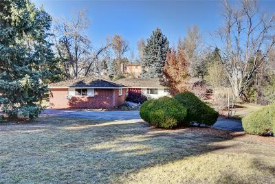 Littleton Single Family Home Active: 4677 West Wagon Trail Road
