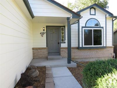 Castle Rock Single Family Home Under Contract: 4087 Ashcroft Avenue