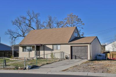 Commerce City Single Family Home Under Contract: 5891 East 77th Avenue