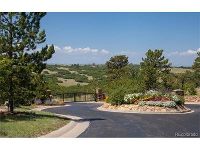 Castle Pines Residential Lots & Land Active: 13097 Whisper Canyon Road