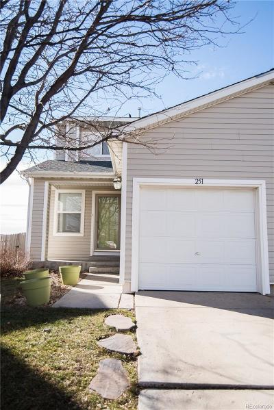 Fort Lupton Condo/Townhouse Under Contract: 251 Ponderosa Place