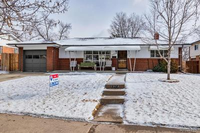 Denver Single Family Home Active: 2372 South Raleigh Street