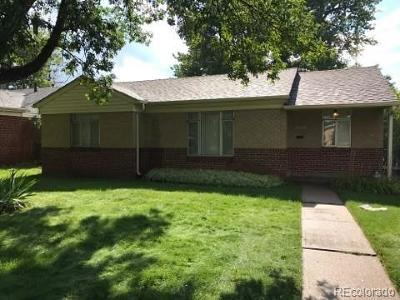 Denver Single Family Home Active: 1261 South Harrison Street