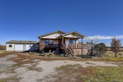 Castle Rock Single Family Home Under Contract: 4545 East Highway 86