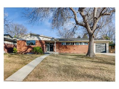 Denver Single Family Home Active: 2588 South Dexter Street