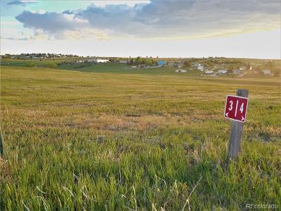 Kiowa CO Residential Lots & Land Active: $169,000