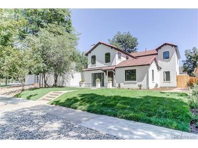 Denver Single Family Home Active: 1650 North Elm Street