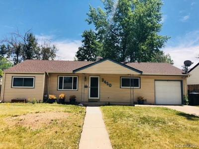 Denver Single Family Home Active: 3450 South Glencoe Street
