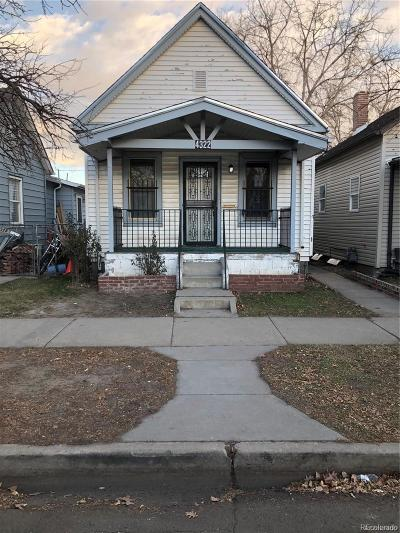 Denver Single Family Home Under Contract: 4322 Sherman Street