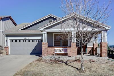 Castle Rock Single Family Home Under Contract: 4298 Beautiful Circle