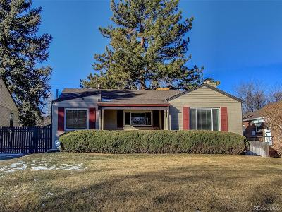 Denver Single Family Home Active: 433 Holly Street