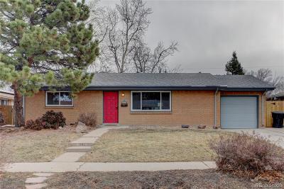 Single Family Home Sold: 1992 South Tennyson Street