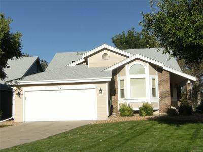 Highlands Ranch Single Family Home Under Contract: 17 Sutherland Court