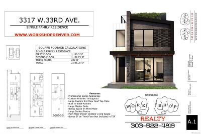 Highlands, Highlands Square, Highlands, Sloans Lake, Highlands, Sloans Lake, Mile High, Highlands, The, Highlands, West Highlands, Downtown, Lohi, Lohi Single Family Home Under Contract: 3317 West 33rd Avenue