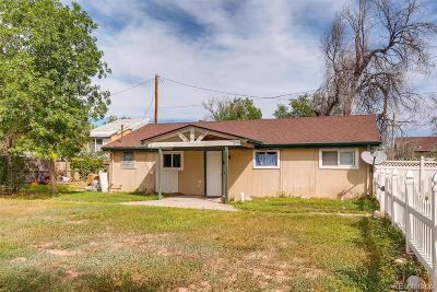 Commerce City Single Family Home Under Contract: 8053 Jasmine Street