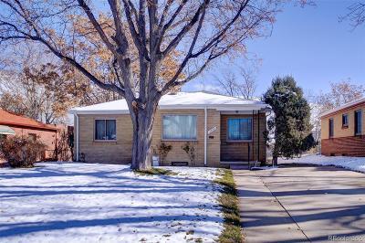Denver CO Single Family Home Active: $350,000
