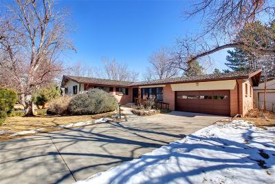 Centennial Single Family Home Active: 6150 South Rosewood Drive