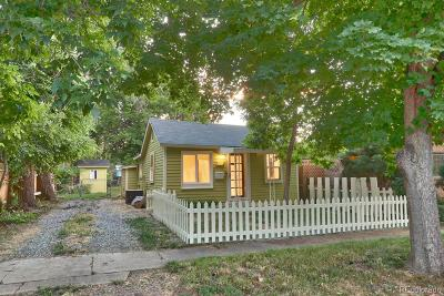 Longmont Single Family Home Under Contract: 727 Martin Street