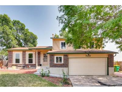 Littleton Single Family Home Active: 7680 South Garland Street