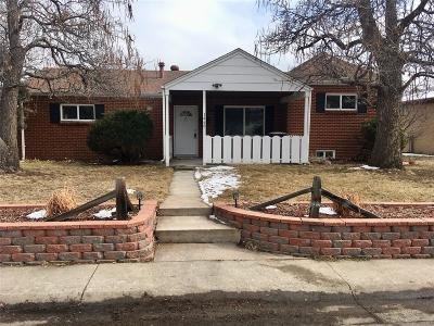 Denver Single Family Home Active: 1460 South Patton Court