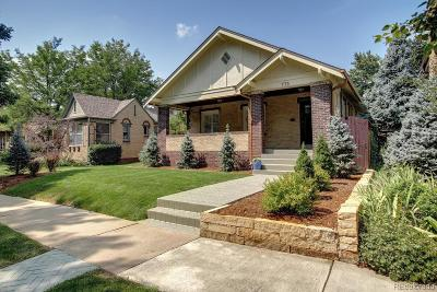Denver Single Family Home Under Contract: 773 Clayton Street