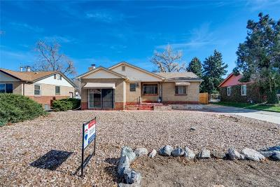 Wheat Ridge Single Family Home Under Contract: 3950 Otis Street