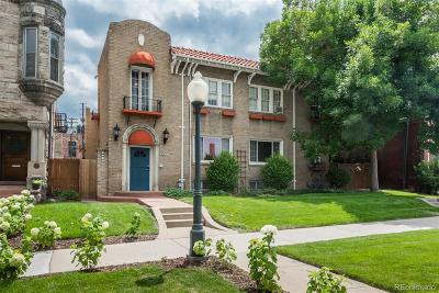 Denver Condo/Townhouse Under Contract: 1528 North Emerson Street #2