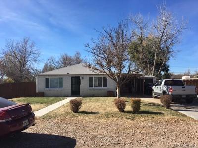 Aurora Single Family Home Under Contract: 1761 Argonne Street
