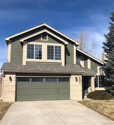 Castle Rock Single Family Home Under Contract: 4403 West Mountain Vista Lane