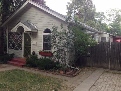 Longmont Single Family Home Under Contract: 318 Sherman Street