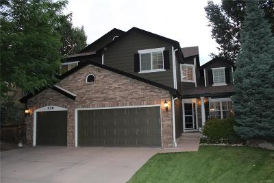 Highlands Ranch Single Family Home Active: 436 Rose Finch Circle