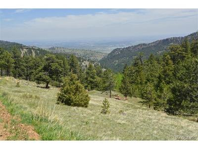Boulder Residential Lots & Land Active: Sunshine Canyon Drive